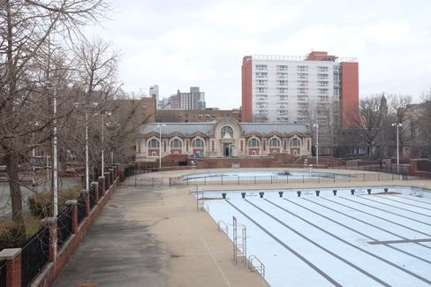 The pool at the Hamilton Fish Recreation Center.