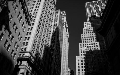 Views Of Wall Street As U.S. Stocks Slip