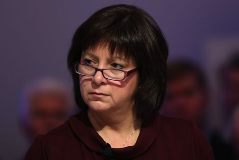 Finance Minister Natalie Jaresko