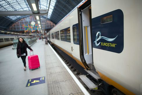 Eurostar International Ltd. Trains As U.K. Government Prepare Stake Sale