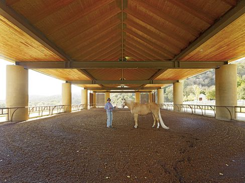 There are four other barns, plus a hay barn, two training arenas and two riding arenas.