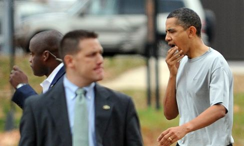 Obama Gets 12 Stitches in Lip After Basketball Mishap