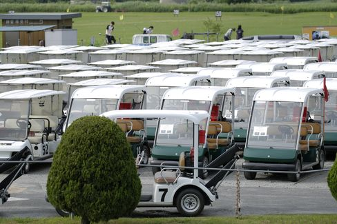 Unused golf carts