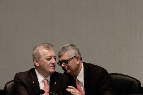 Aldemir Bendine and Ivan Monteiro