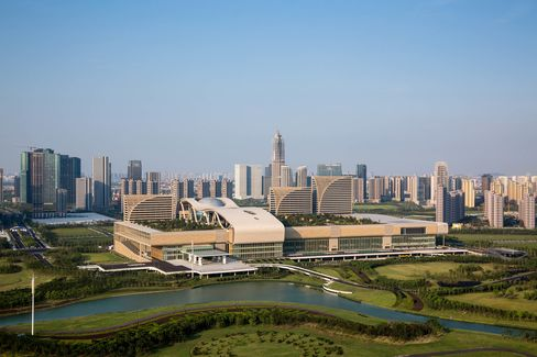 Hangzhou International Exhibition Centre, venue for the upcoming 2016 Hangzhou G20 Summit to be held from September 4 - 5.
