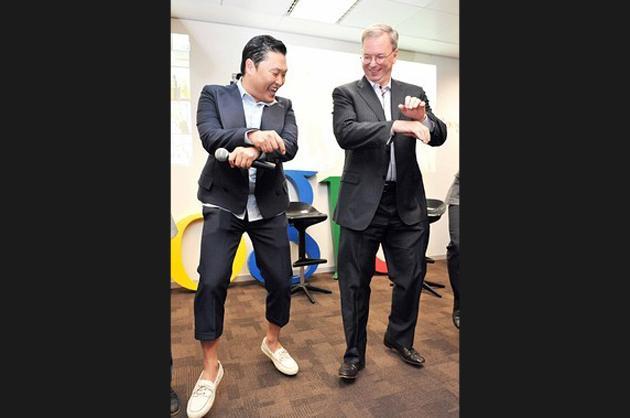 Google Chair Eric Schmidt Dances 'Gangnam Style'