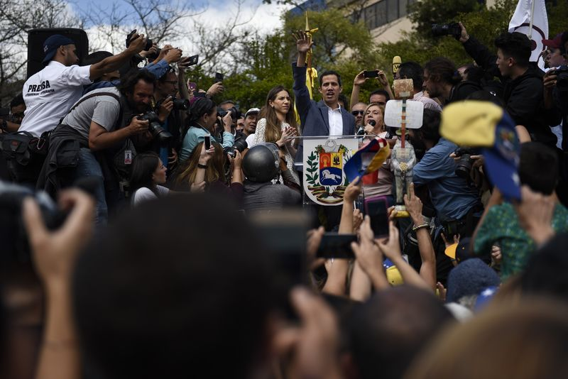 National Assembly President Juan Guaido Holds Rally As United Nations Meets To Discuss Situation In Venezuela