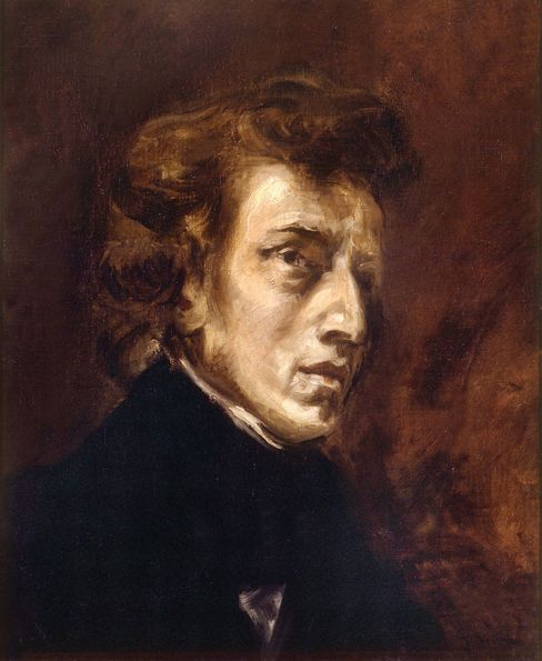 Eugene Delacroix's portrait of Frederic Chopin