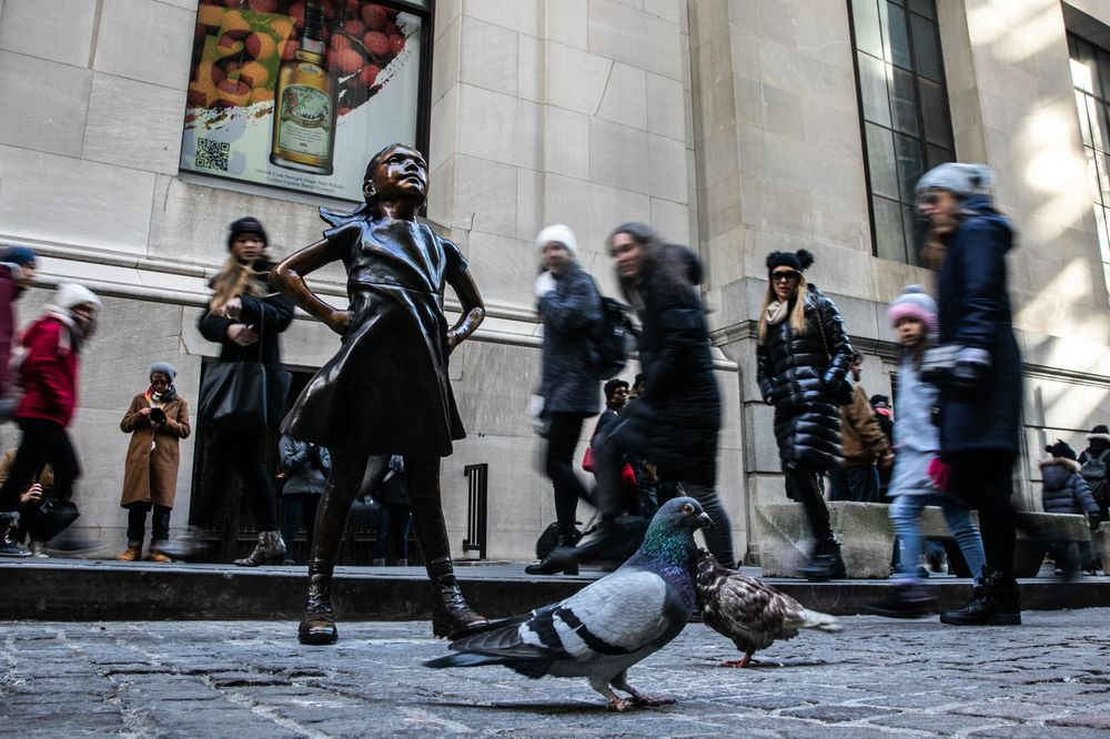 """Image result for """"Fearless Girl"""": Statue is now the subject of court, order blocking her creator from selling"""