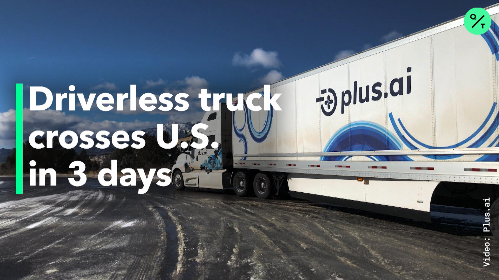 Driverless Truck Crosses US In 3 Days