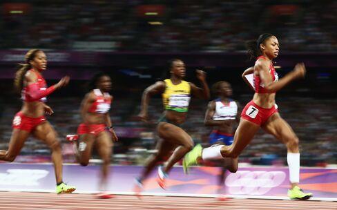 American Allyson Felix Wins 200-Meters Gold at London Olympics