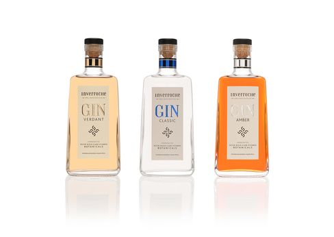 Bottles of Inverocche Gin, produced by Inverocche Distillery.