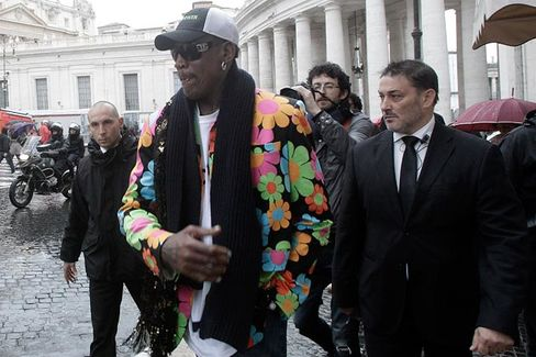Q&A: Touring Rome With Dennis Rodman and a Popemobile