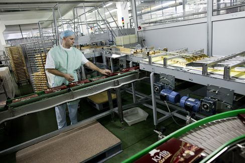Production At Ukrainian Chocolate Maker Roshen