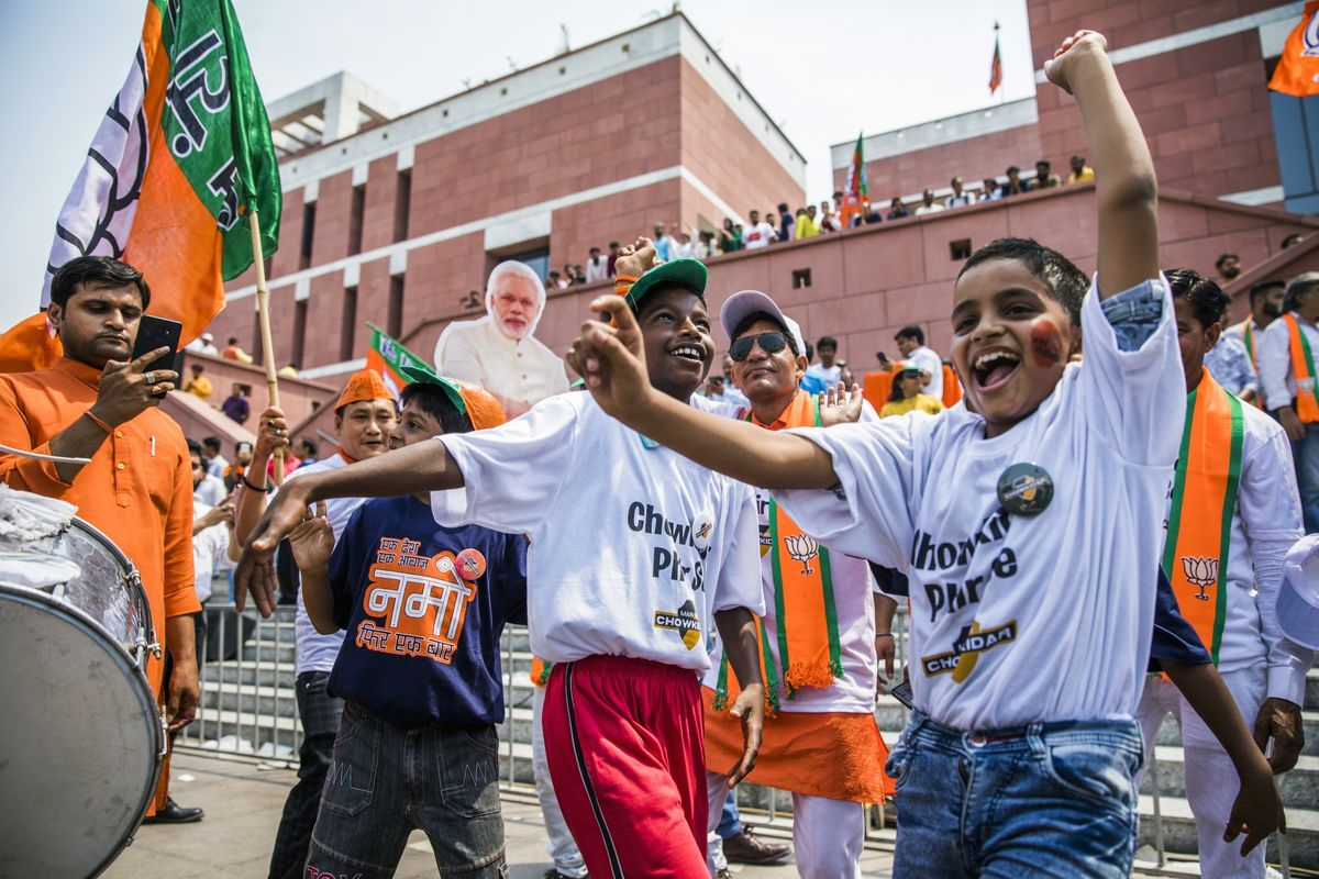 'India Wins,' Modi Says as He Surges to Decisive Victory