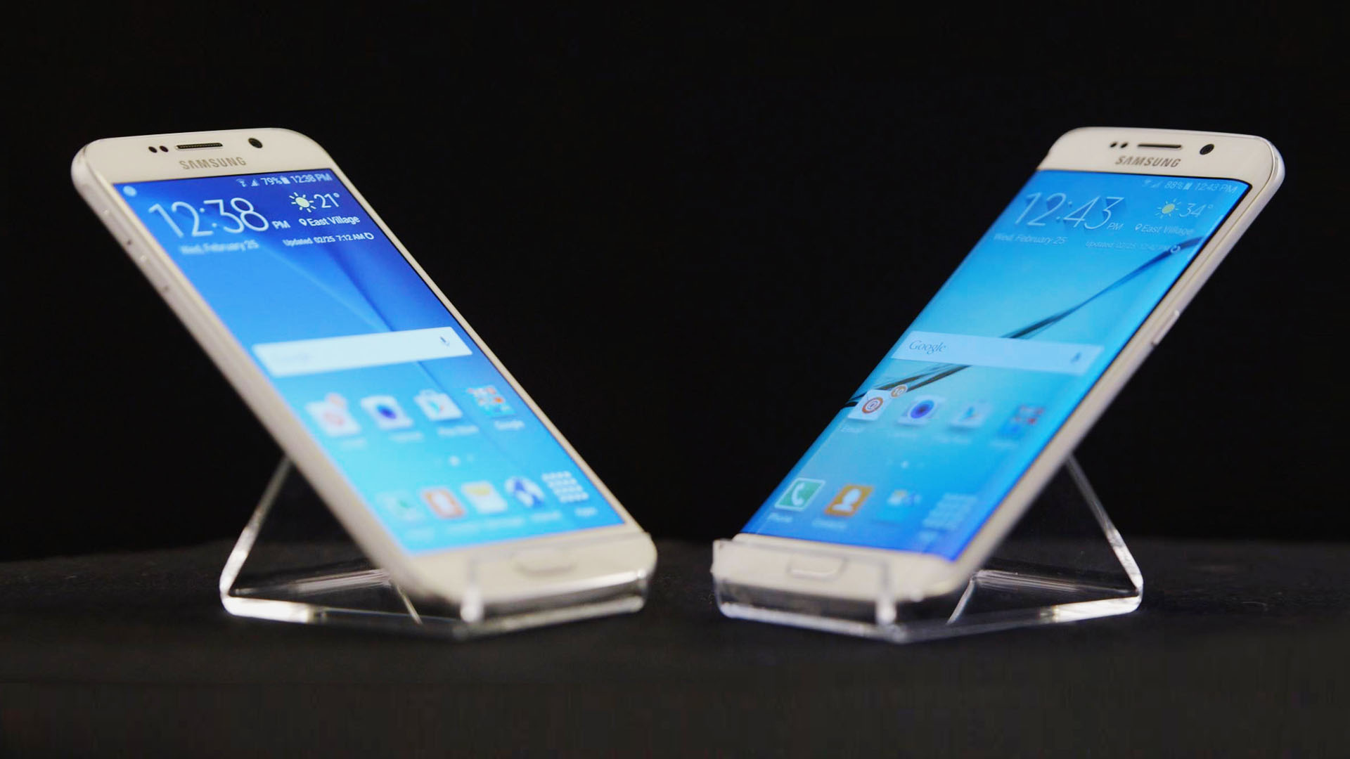 Hands On Samsungs Fancy New Galaxy S6 Edge Phones Bloomberg