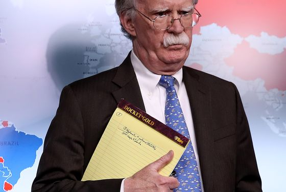 Hint to Maduro? '5,000 Troops to Colombia,' Reads Bolton Notepad
