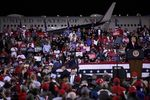 """U.S. President Donald Trump speaks to a crowd during a """"Make America Great Again"""" campaign rally in Fayetteville, North Carolina,on Sept.19."""