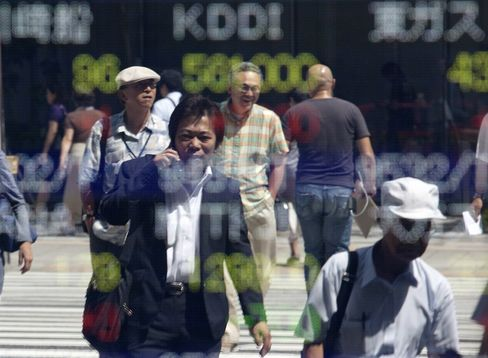 Asian Stocks Rise on U.S. Data, Set for Weekly Gain