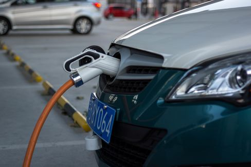 A charging station for electric cars.  To fight the 'war on