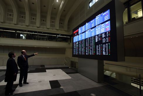 Inside Tokyo Stock Exchange And Stock Boards As Nikkei 225 Briefly Tops 20,000 Mark