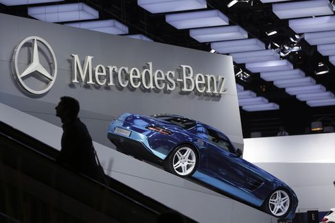 A Mercedes SLS AMG Coupe Electric Drive Automobile