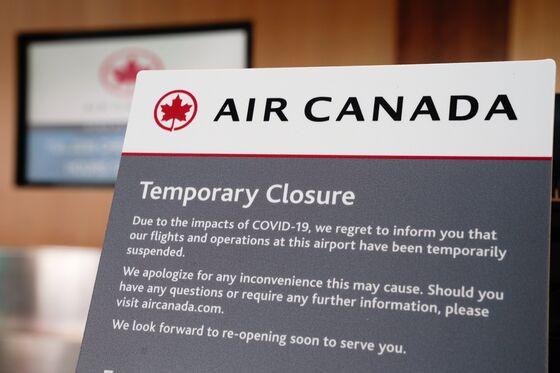 Trudeau Cancels Flights to Curb Virus; Air Canada Falls