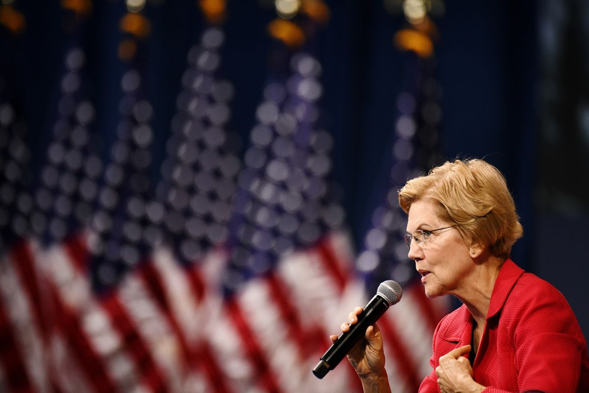 Elizabeth Warren Seen as Nominee by 70% of Investors, Bank Survey Says