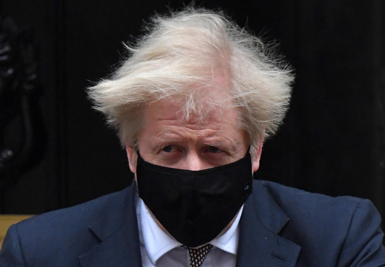 Boris Johnson on 13 January.