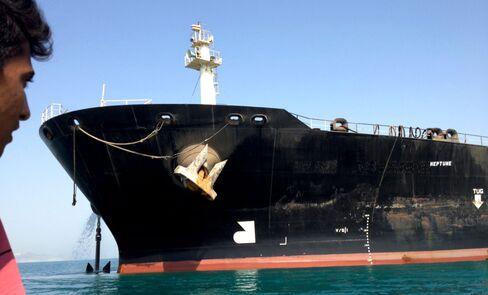An Iranian oil tanker in Bandar Abbas, Iran, on July 4, 2012.