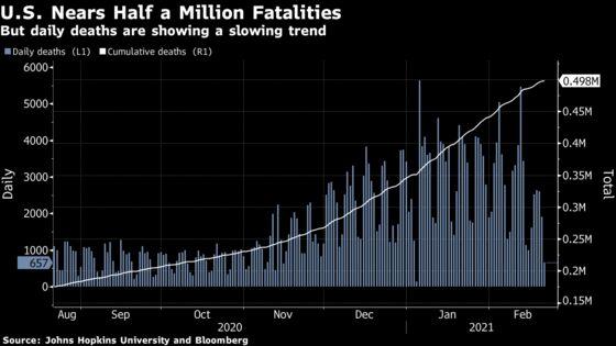 U.S. Near 500,000 Deaths; U.K. to Open Cautiously: Virus Update