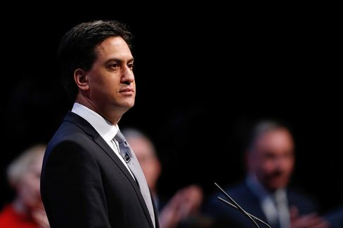 U.K. Opposition Labour Party Leader Ed Miliband