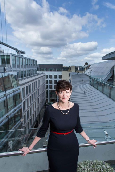 CEO Alison Nimmo on the terrace at the Crown Estate's main office in London.