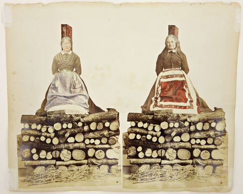 Anonymous, Obsession (ca. 1870). Collage, photography, mixed media.