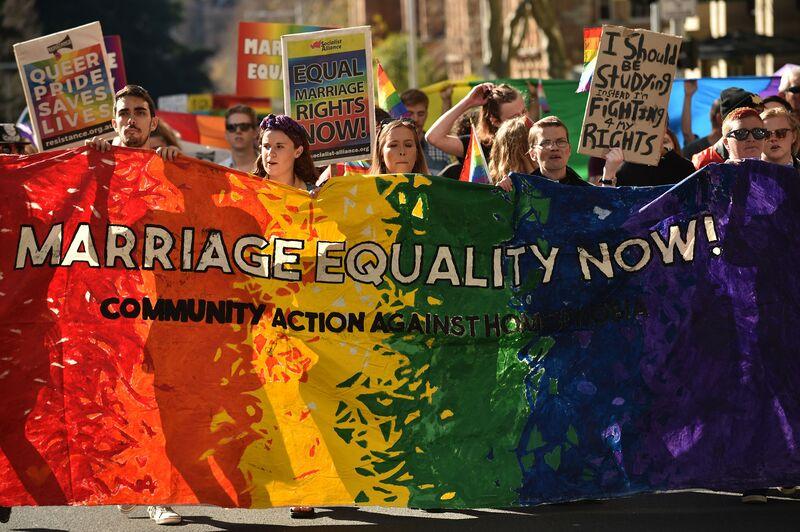 Nude debate of gay marriage