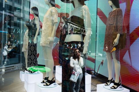 Shoppers on Lexington Avenue on April 29, 2015 in New York City.