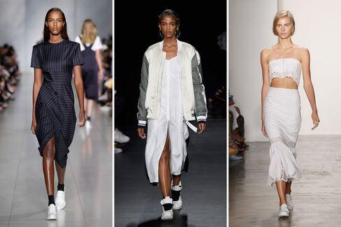 From left: DKNY; Rag & Bone; Jonathan Simkhai.