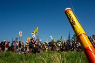 Demonstrators Protest Line 3 Pipeline