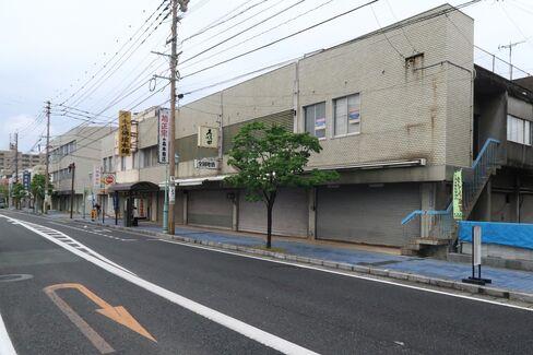 水ケ江のシャッター通り(佐賀市内)