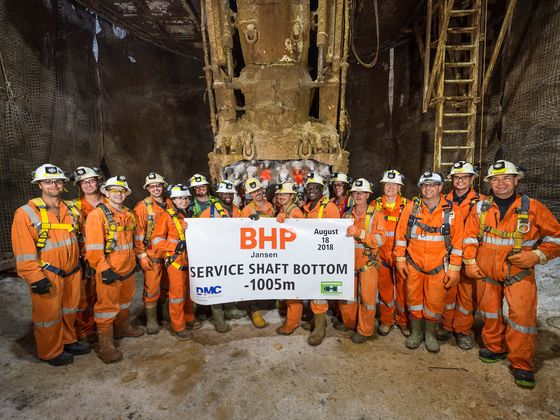 BHP Isin Talks With Nutrien on Giant Potash Mine