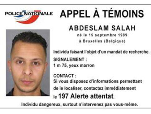 A handout photograph of Abdeslam Salah.