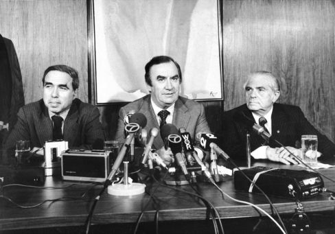 Felix Rohatyn, Hugh Carey and Abe Beame