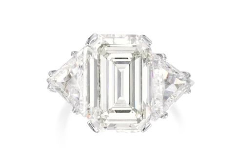 An Emerald-Cut Diamond Ring