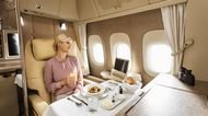 Emirates' first-class suite.