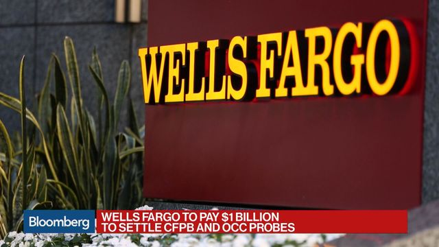 Wells Fargo's $1 Billion Pact Gives U.S. Power to Fire Managers