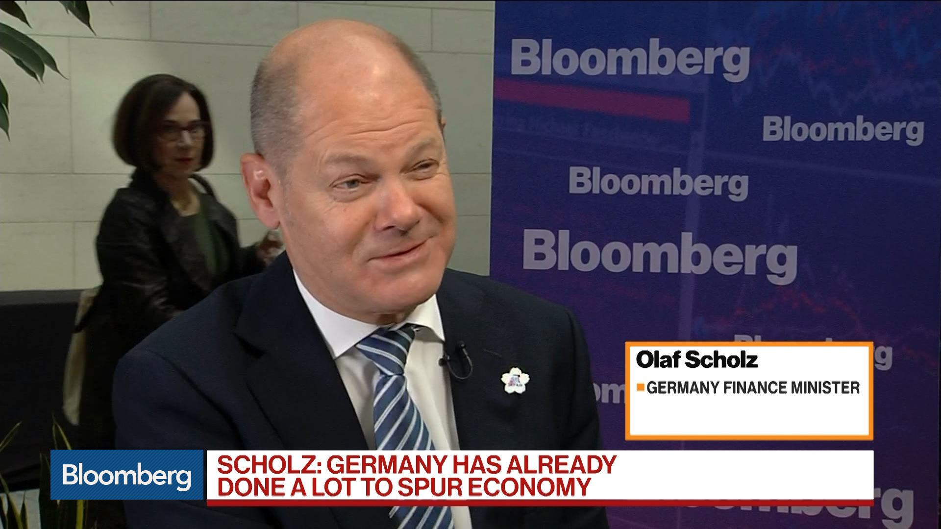 German Finance Minister Says a Lot Has Been Done to Spur Economy