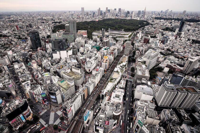 Views From Shibuya Sky Observation Deck Ahead of Tankan Survey