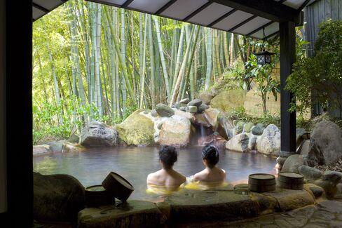 Hot springs.