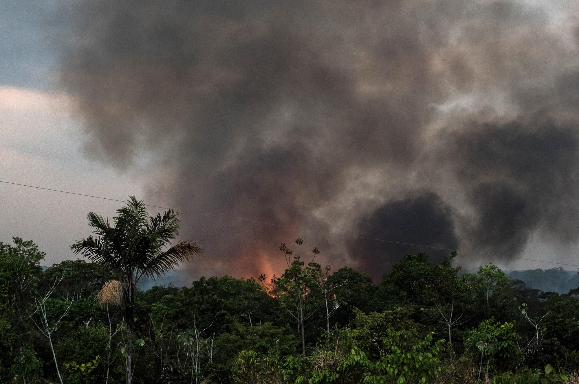 Brazilian Amazon Burns At Record Rate
