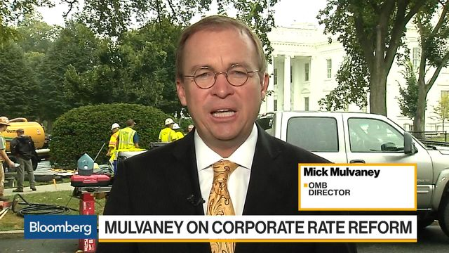 OMB's Mulvaney Says Trump's Focused on 15% Tax Rate